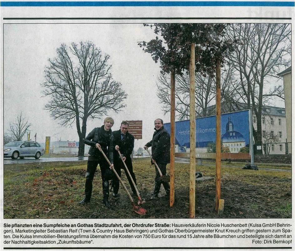 Town & Country Haus engagiert sich im Umweltschutz mit Baumpflanzaktionen