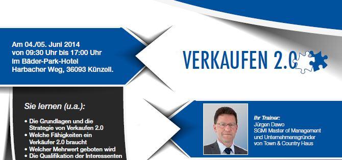Seminar Verkaufen 2.0 im Juni in Fulda