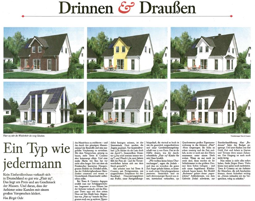 "Town & Country Haus in der ""FAZ"""