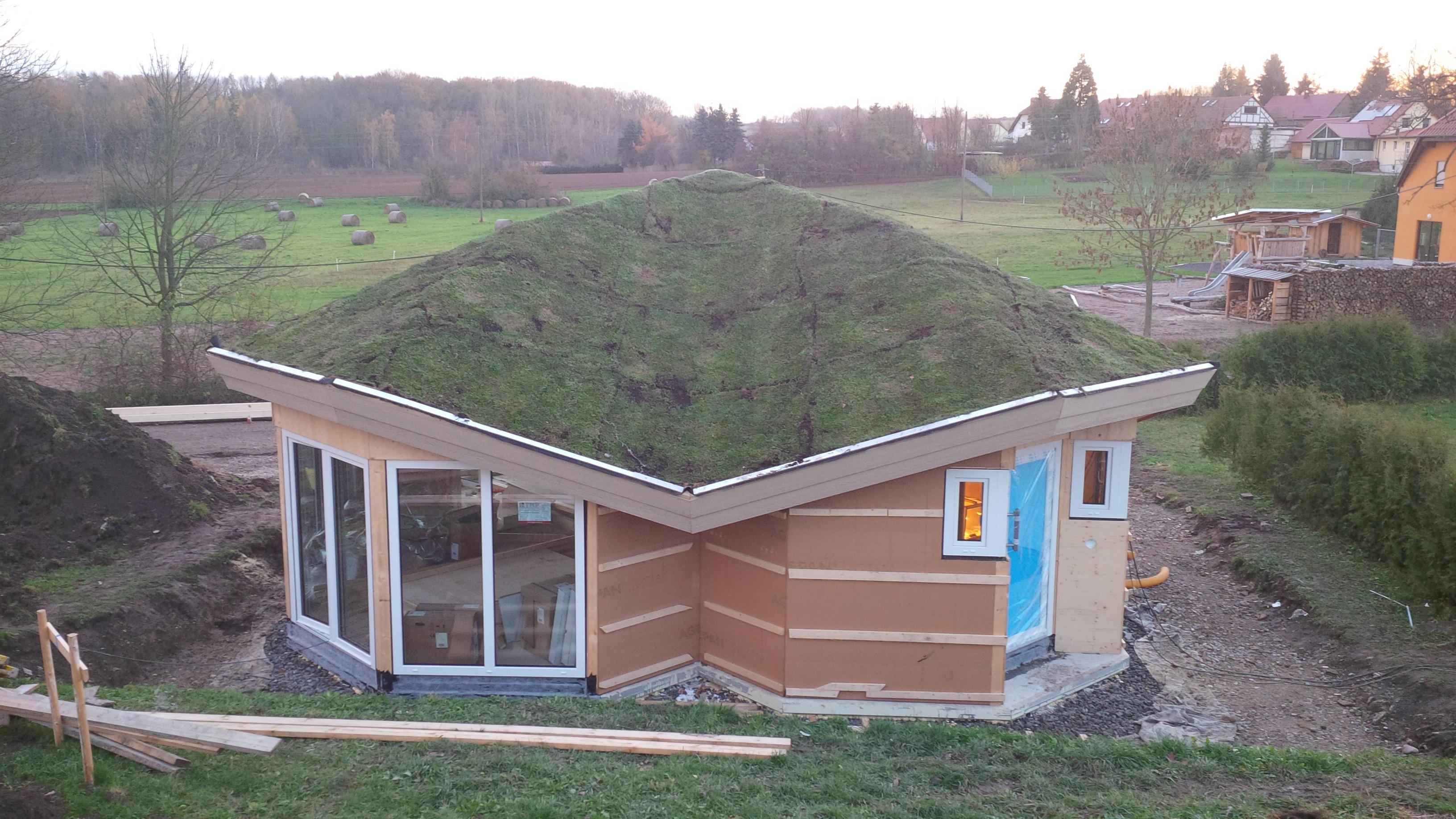 Aufbau eines 61 -Quadratmeter- Wohlfühlhauses an nur einem Tag