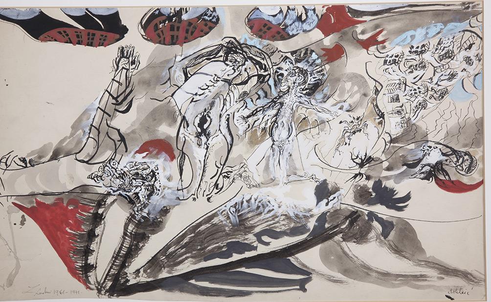 """Sonderausstellung """"Ghettobilder – Werke des polnischen Malers Zdzisław Lachur"""""""