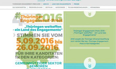 Verleihung des 4. Thüringer Engagement-Preises