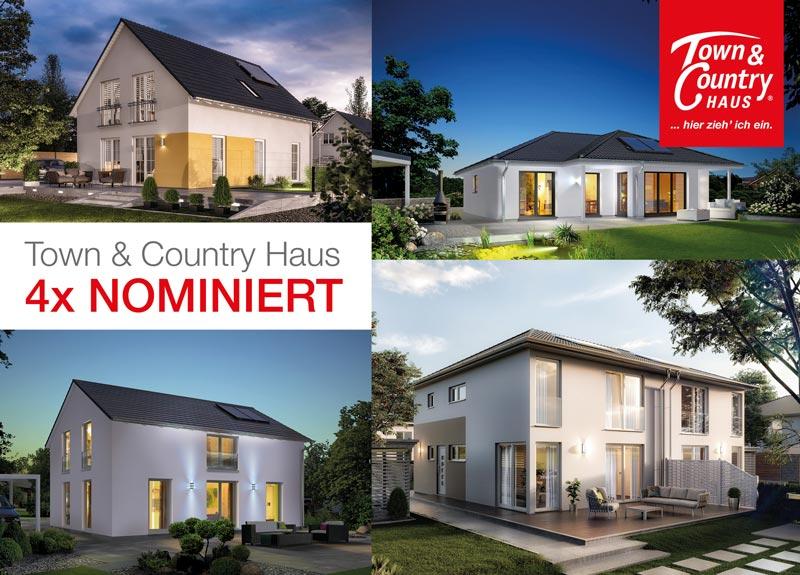 Hausbau Design Award 2017: Massivhäuser von Town & Country gleich in vier Kategorien nominiert