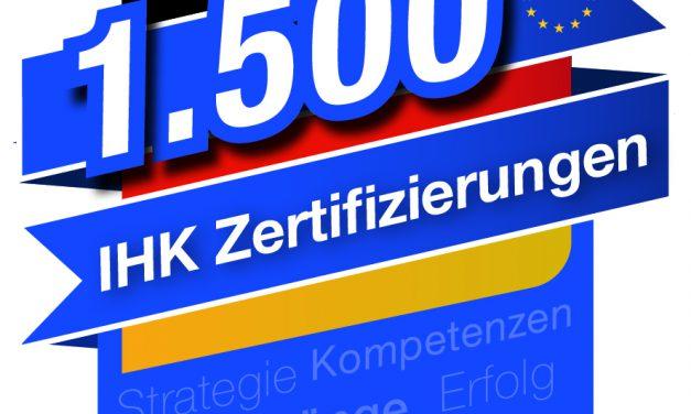 1500 IHK-Zertifikate wurden verliehen
