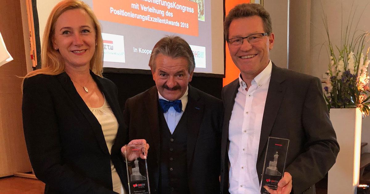 Gabriele und Jürgen Dawo erhalten Ehrenpreis des PositionierungsExzellentAwards
