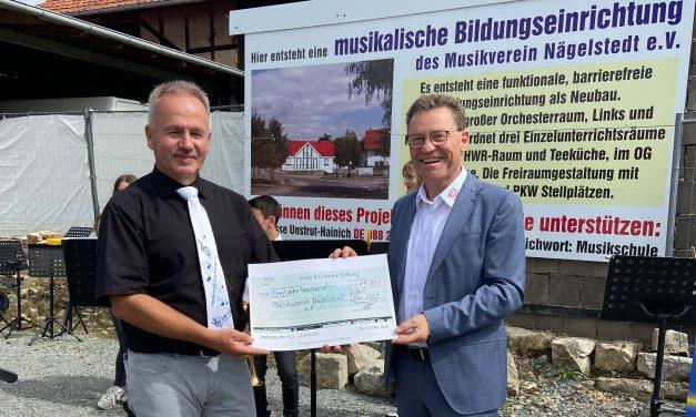 Integrative musikalische Bildungseinrichtung des Musikvereins Nägelstedt wird mit 15.000 Euro durch die Town & Country Stiftung gefördert